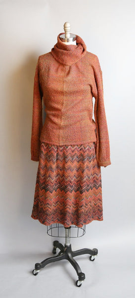 1950's Dalton Mohair Sweater & Skirt Set l L