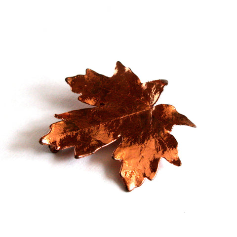 1970's Copper Dipped Maple Leaf Pin