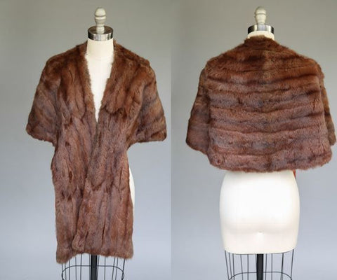 1930's Chocolate Mink Stole