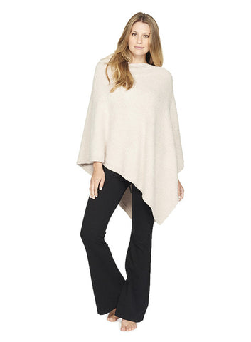 Barefoot Dreams Boatneck Poncho: Stone