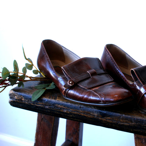 1940's Isabella Italian Leather Loafer l 37