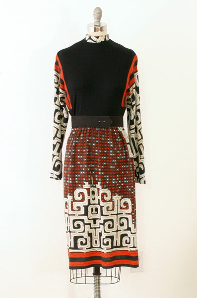 1970's Vilano Wool Knit Dress | M