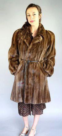 1980's Michael's Mink Walking Coat l S/M