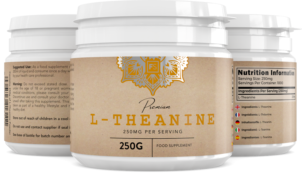 L-Theanine (300mg) Capsules or Powder