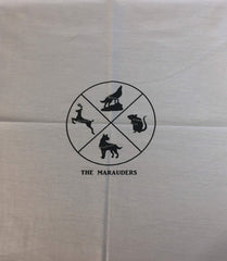 "HP Animals custom knit panel approx 16""x19"" light gray"