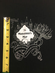 "HP Castle custom knit panel approx 16""x19 ** black and white"