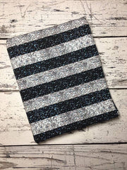 Blue and Silver Sparkle Stripes Custom Cotton Lycra