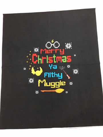 Harry ugly sweater Filthy Muggle Child Panel Approx. 15x18""