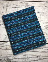 Hitchhikers guide sparkle stripes cord. Custom knit