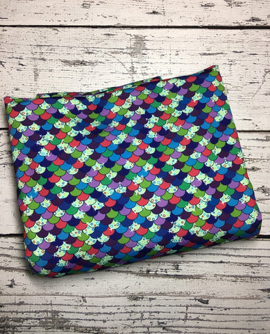 Rainbow Fish scales custom SWIM knit with 50SPF