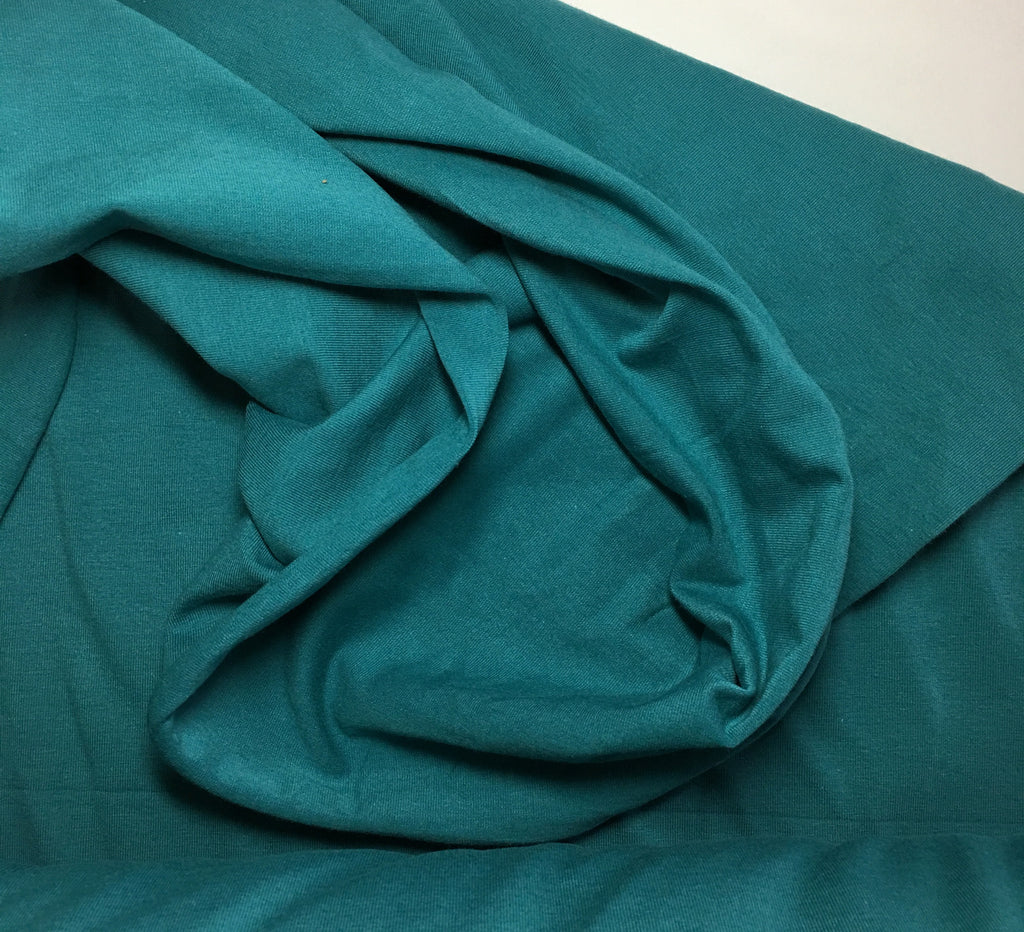 Blue Green Turq. Solid cotton lycra 13oz