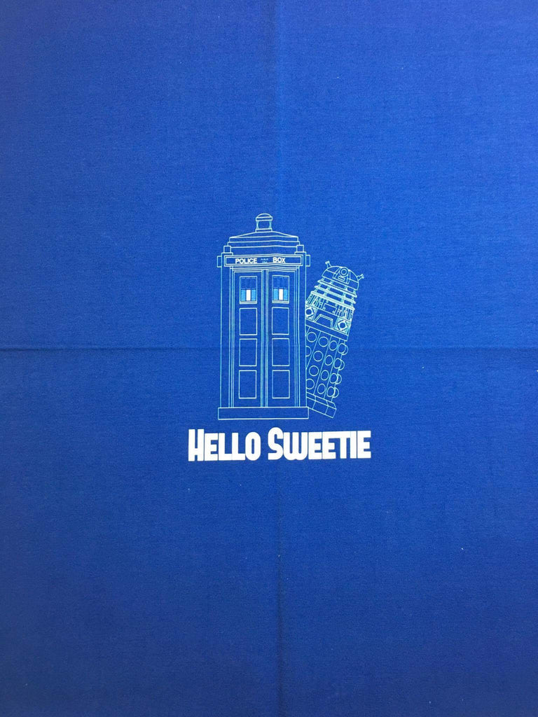Dr. Who Blueprint small custom knit panel approx 16x19