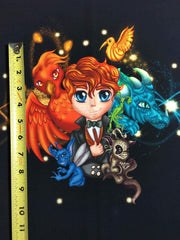 Magical Beasts small custom knit panel approx 16x19