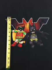 "Brick heroes approx. 18""x21"" custom knit panel"