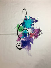 "Water Color Treble panel minor seconds approx. 18""x21"""
