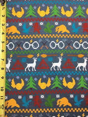 Harry Ugly Sweater Grey Custom Cotton Lycra