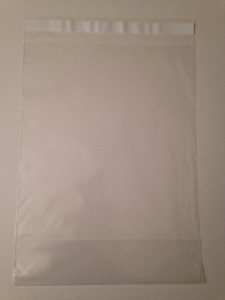 2mil Clear Lip Seal Bags with Expandable Bottom