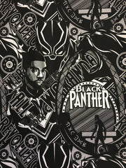 Black Panther Black and White custom knit smaller scale
