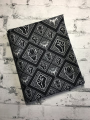 Black Panther Black and White cord custom WOVEN