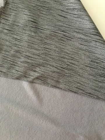 Black Gray Heather fleece back
