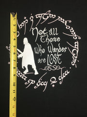 LOTR Not All Who Wander black FH size PNL