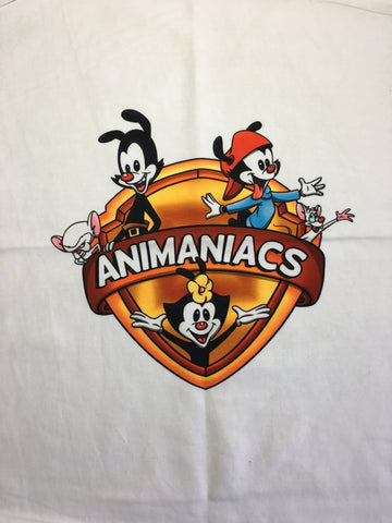 "Animaniacs small white knit panel approx 16""x19"""
