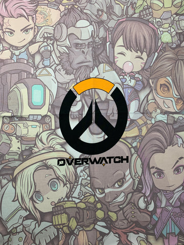 "Overwatch character back custom CL panel approx 18""x21"""