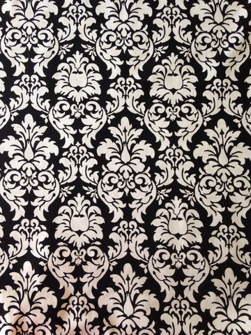 "Black Damask 60"" cotton woven"
