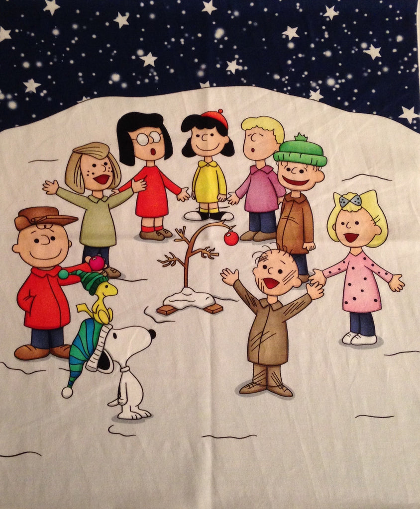 Peanuts custom knit panel