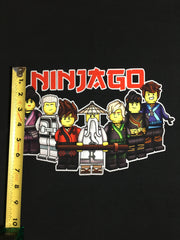 "Ninja collage 2 custom knit PNL approx 18""x21"""