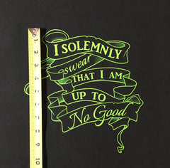 "HP Maps Slytherin Up to No Good large PNL approx. 34""x28"""