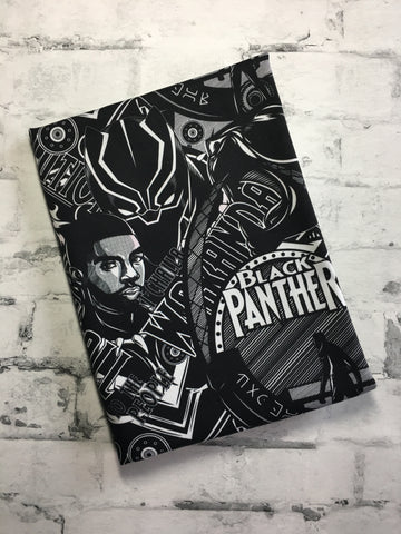 Black Panther Black and White custom WOVEN