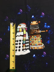 "Rock Around the Dalek Snowdaleks small custom knit panel approx 16""x19"