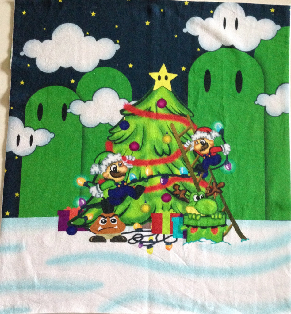 Christmas super bros smaller panel (Approx 15x15)