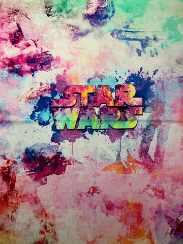 "Star Wars Water Color custom panel approx. 18""x21"""