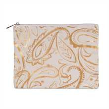 Metallic Gold Paisley Pouch