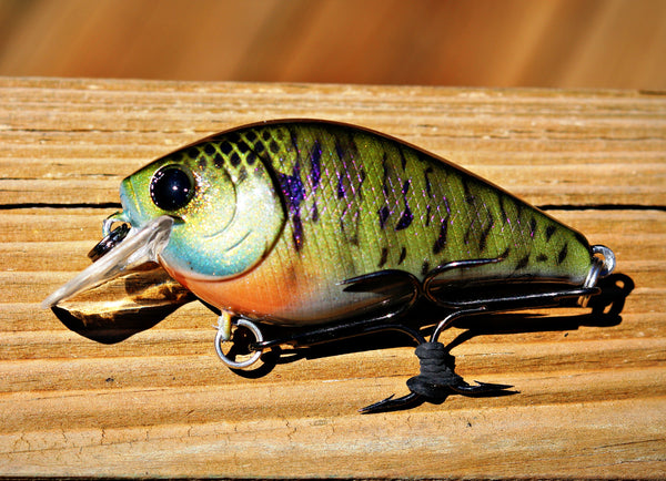 Custom Painted Squarebill Crankbaits Bama Frogs