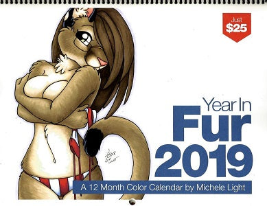 2019 The YEAR IN FUR Calendar (Michele Light)