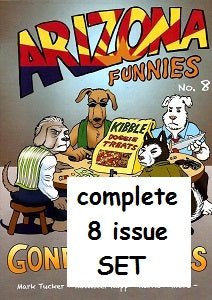 ARIZONA FUNNIES #1 through #8 SET (2011-2018) (Karno and Friends) (1)