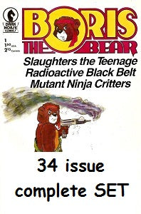 BORIS THE BEAR #1 through #34 SET (1986-1991) (James Dean Smith) (1)