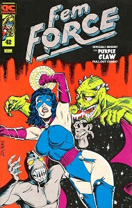 FEM FORCE #42 (1991) (Black, Nemmers and others) (SCRATCHED SPINE) (1)