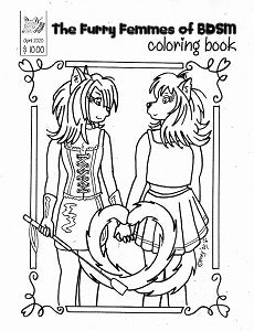 FURRY FEMMES OF BDSM Coloring Book, The (2020) (Foxy)