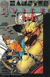 HAMSTER VICE IN 3-D #2 (1987) (Dwayne J. Ferguson) (NO 3-D GLASSES) (1)