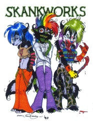 BY THE TAIL Print. #10: Skankworks (Happy Halloween!) (2007) (Lee & Hardiman)