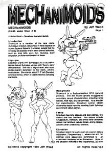 MECHANIMOIDS Model Sheet #6 (1992) (Jeff Wood)