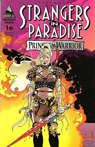 STRANGERS IN PARADISE.. Vol. 3 #16 Alternate Cover (1998) (Terry Moore) (SHOPWORN) (1)