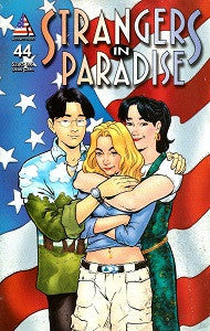 STRANGERS IN PARADISE.. Vol. 3 #44 (2001) (Terry Moore) (SHOPWORN, 79 cents) (1)
