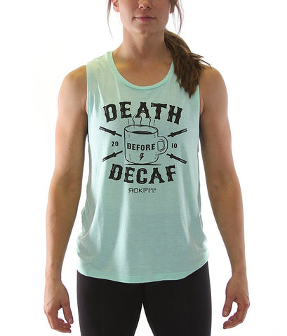 Rokfit - Death Before Decaf Muscle Tank