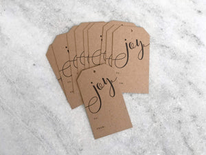 Cards Favorite Story Modern Calligraphy Gift Tags, Kraft, Set of 10