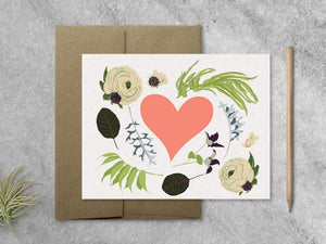 Cards Favorite Story Wildflower and Heart Card